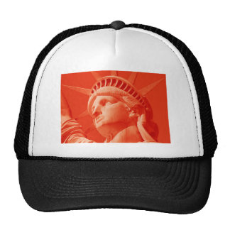 Red Statue of Liberty Trucker Hat