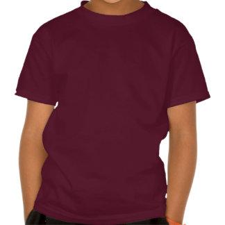 Red steam locomotive train t-shirt