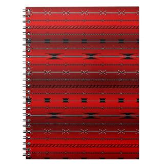 Red Steel Wires Spiral Notebook