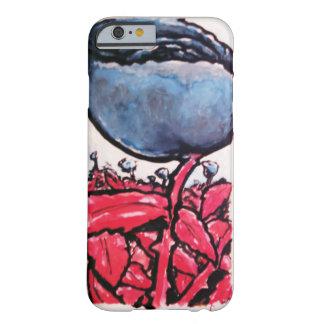 Red-stemmed blue roses iPhone6 case