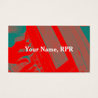 Red Steno Machine Court Reporter Business Card