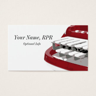 Red Steno Machine Court Reporter Business Cards