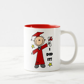 Red Stick Figure Boy Graduate Mug