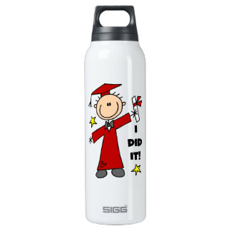 Red Stick Figure Boy Graduate SIGG Thermo 0.5L Insulated Bottle