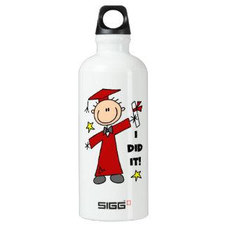 Red Stick Figure Boy Graduate SIGG Traveler 0.6L Water Bottle