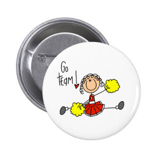 Red Stick Figure Cheerleader t-shirts and Gifts Buttons