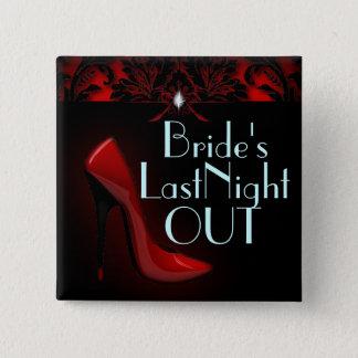 red Stiletto Bridal Shower bachelorette party Button