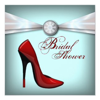 red Stiletto Bridal Shower bachelorette party Card