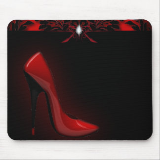 red Stiletto Bridal Shower bachelorette party Mouse Pad