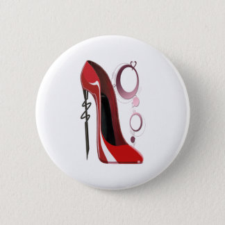 Red Stiletto Shoe and Bangles Art Button