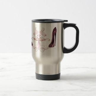 Red Stiletto Shoe's Art Stainless Steel Travel Mug