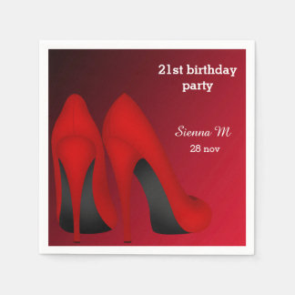 Red Stilettos Napkin