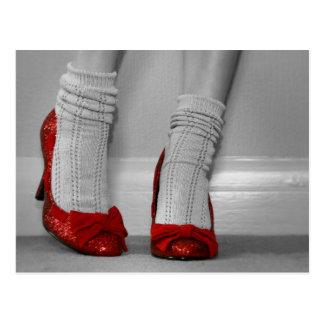 Red Stilettos Postcard