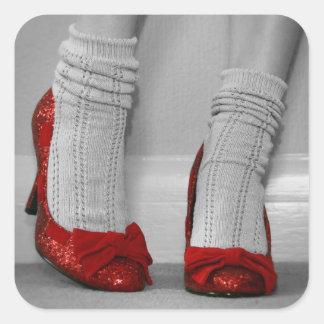 Red Stilettos Square Sticker