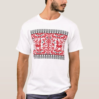 Red Stitch fictive being T-Shirt
