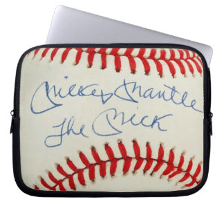 Red Stitched Baseball Laptop Sleeve