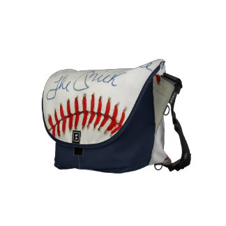 Red Stitched Baseball Mick HUGE Crossbody Tote Bag