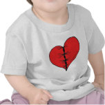 Red Stitched Heart Tee Shirts