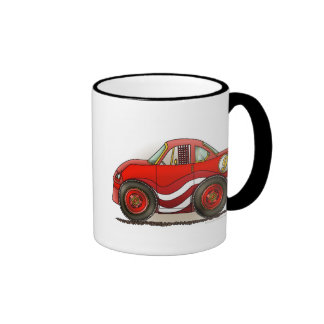 Red Stock Car Mugs