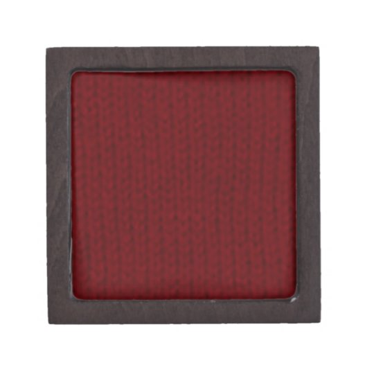 Red Stockinette Gift Box