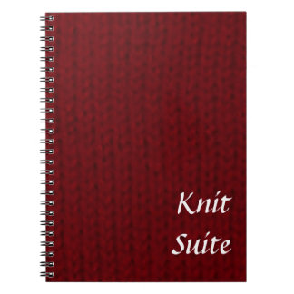 Red Stockinette Spiral Notebook