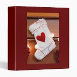 Red stocking 3 ring binders