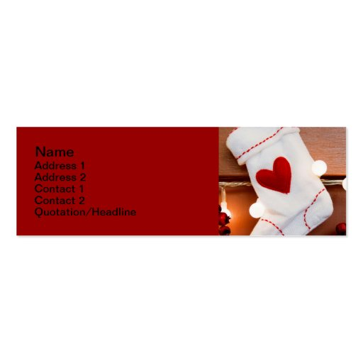 Red stocking business card templates