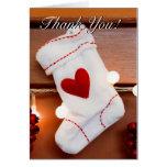Red stocking greeting card