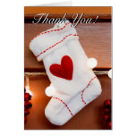 Red stocking greeting cards