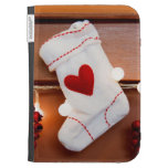 Red Stocking Kindle Covers