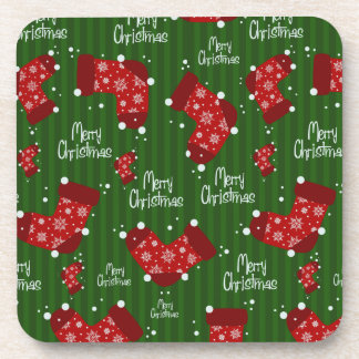 Red Stockings christmas coasters