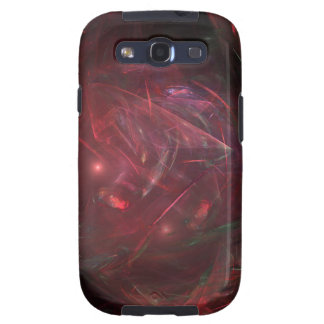 red stone crystal abstract art case samsung galaxy s3 cover