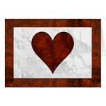 Red Stone Heart Card