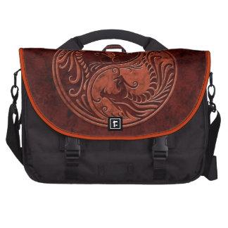Red Stone Yin Yang Dragons Bag For Laptop