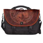 Red Stone Yin Yang Dragons Laptop Commuter Bag
