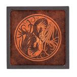 Red Stone Yin Yang Phoenix Premium Jewelry Boxes