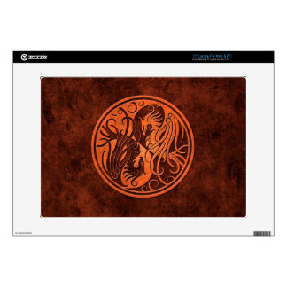 "Red Stone Yin Yang Phoenix Skins For 15"" Laptops"
