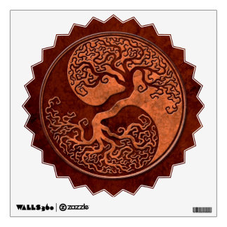 Red Stone Yin Yang Tree Room Stickers