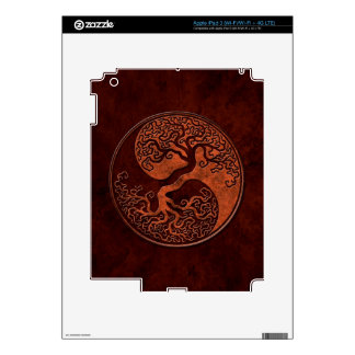 Red Stone Yin Yang Tree Decals For iPad 3