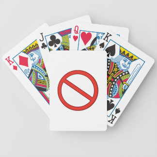 RED STOP SYMBOL WARNING GRAPHIC BICYCLE PLAYING CARDS