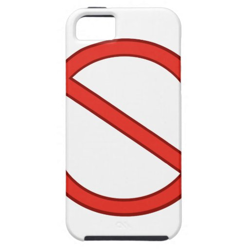 RED STOP SYMBOL WARNING GRAPHIC iPhone 5 CASE