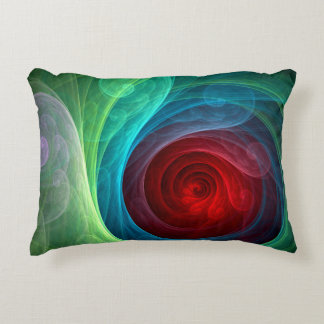 Red Storm Abstract Art Accent Pillow