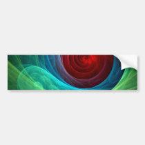 genesis, abstract, art, bumper, sticker, Bumper Sticker with custom graphic design