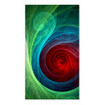 Red Storm Abstract Art Business Card