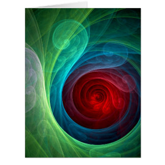 Red Storm Abstract Art Card