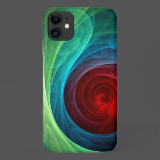 Red Storm Abstract Art Case-Mate iPhone Case