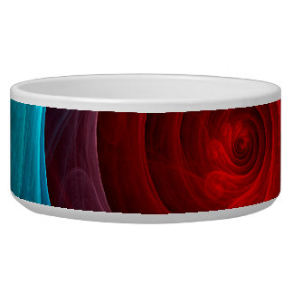 Red Storm Abstract Art Dog Bowl
