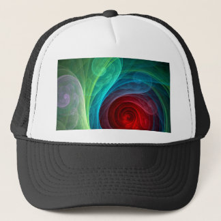 Red Storm Abstract Art Hat