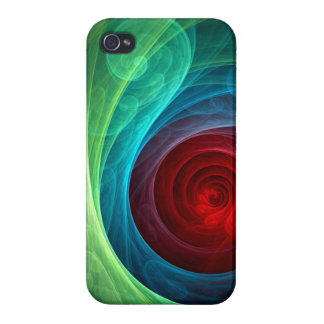 Red Storm Abstract Art iPhone 4/4S Cases