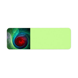 Red Storm Abstract Art Label